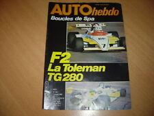 Auto hebdo N°201 Boucles de Spa.Monté-Carlo.Gp  Brésil