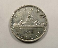 Canada King George VI Semi Key Silver One Dollar 1946 Nice Condition VERY SCARCE