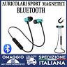 Auricolari Bluetooth Sport Magnetici Cuffie Wireless con microfono azzurri
