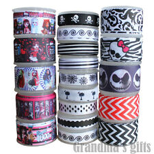 19Yards Mixed Lot Printed Grosgrain Ribbon Hairbow Wholesale FREE SHIPPING