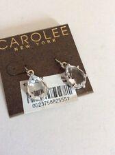 CAROLEE Silver-Tone CRYSTAL Teardrop Drop EARRINGS - #435