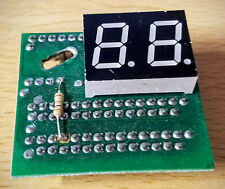 Power Light PA-502G 2 Digit LED Display on Project PCB Board