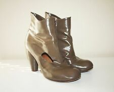 Anthro Shoes CHIE MIHARA SORBET BOOTS Cut Out Ankle Booties 8.5 Olive Taupe Mod