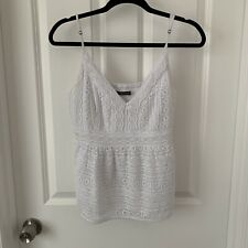 Abercrombie & Fitch Crochet Lace Camisole Tank White L