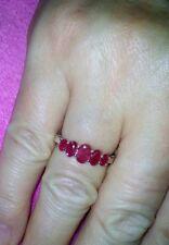 Harry Ivens 925 Silber Rubin- Beisteck-Ring rhodiniert Gr.17,2 NEU!!!🌺