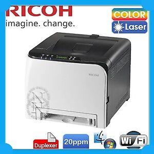 Ricoh SPC252DN/SPC262dnw Color Laser Wi-Fi Network Printer+Duplexer P/N:408141