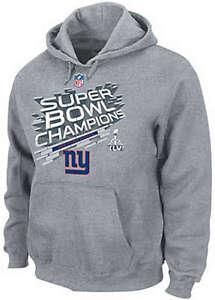 New York Giants Super Bowl Champions Locker Room Hooded Sweatshirt Big & Tall