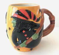 Susan Winget Witch 3D Coffee Mug Broomstick Halloween Cup 24 Oz Wrap Around