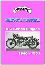 VINCENT Workshop Manual B & C Series Comet Meteor 1952 1953 1954 Service Repair