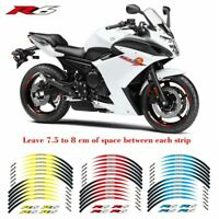 """17"""" Motorcycle front & Rear Edge Outer Rim Sticker For YAMAHA YZFR6"""