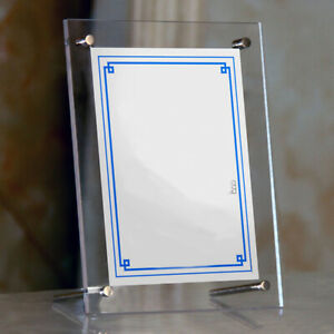 Vertical Acrylic Picture Frame Display / Sign Holder Photos Frame