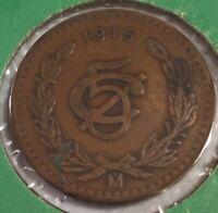 1915 Mexico 5 Centavos Foreign Coin