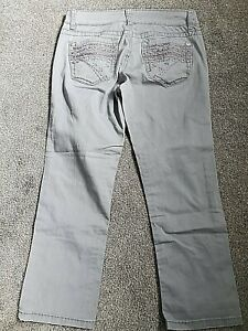 UNIONBAY New Gray Cropped Capri Embroider Stretch Jeans Size 5 Women's