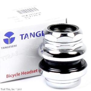 """Tange Seiki Passage 1"""" 1-inch Threaded 26.4mm Chrome Traditional Bicycle Headset"""