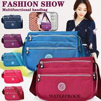 Waterproof Nylon Multi-Pocket Crossbody Purse Bags for Women Travel Shoulder Bag