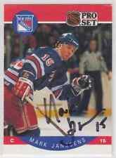 Autographed 90/91 Pro Set Mark Janssens - Rangers