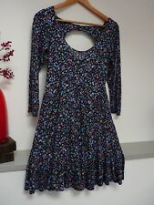 Ladsies Lovely Dorothy Perkins Blue Mix Floral Thigh Length Dress Size 12, Vgc