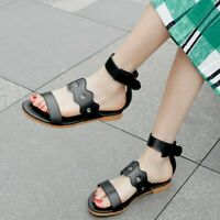 Fashion Women's Ankle Strap Sandals Open Toe Casual Summer Beach Shoes US4.5-13
