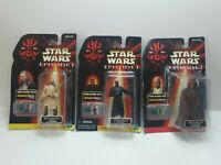 STAR WARS EPISODE 1 Lot 3 Action Fig.Qui-Gon Jinn.DarthMaul& MaceWindu.W.Chip(E1