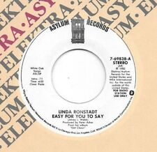 LINDA RONSTADT * 45 1983 Easy For You To Say/ Mr. Radio * UNPLAYED MINT DJ PROMO