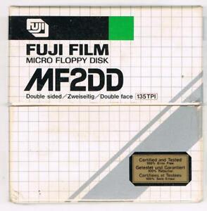 Fuji Fujitsu 10 MF 2DD Micro Floppy Disketten Atari Amiga PC mit und ohne Logo