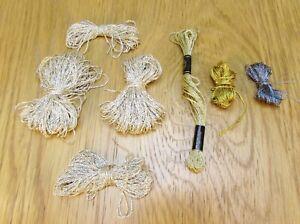 Bundle of Metallic Embroidery Threads (26)