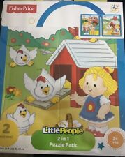 Fisher-Price Little People 2 IN 1 Puzzle Pack for  Kids 2+ RX1/2