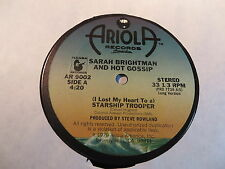 """SARAH BRIGHTMAN AND HOT GOSSIP I LOST MY HEART TO A STARSHIP TROOPER 12"""" VG+/EX"""