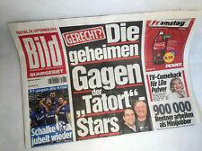 Bildzeitung vom 30.09.2016 zur Geburt * Schalke * Lilo Pulver * Tatort Gagen