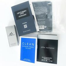 SET OF 5 Sample Mr. Burberry John Varvatos Givenchy Gentlemen Only Intense Clean
