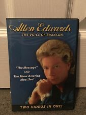 Allen Edwards The Voice Of Branson The Message & Show America Must See DVD RARE!