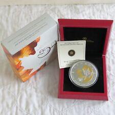 Canadá 2013 5 OZ (approx. 141.75 g) 25th aniversario Hoja de Arce. 9999 Plata Fina $50-completa