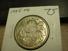 1945 ND - Canada Silver Half Dollar - Canadian 50 cent coin
