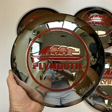 1946 1947 1948 Plymouth Hubcaps, Gorgeous Reproduction! Set of Four!