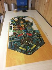 XENON Pinball Machine Playfield Overlay UV PRINTED - Clear Inserts -