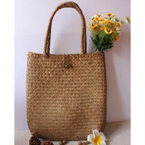 Round Straw Bag Handbags Women Summer Rattan Bag Woven Beach Circle Shoulder Bag