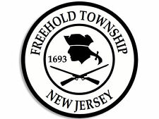 """FREEHOLD TOWNSHIP NEW JERSEY CITY SEAL 4"""" HELMET STICKER DECAL MADE IN USA"""