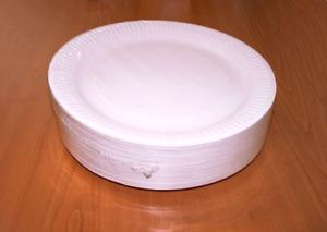 Pappteller rund 23cm weiß Fettdicht - Einwegteller-Imbissteller-Partyteller