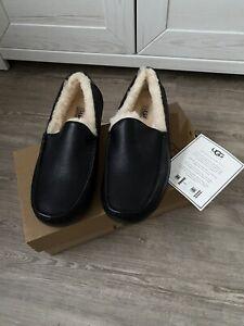 UGG Schuhe Herren 43 Original Fell Leder Slipper - Neu in OVP