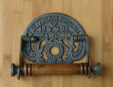 Cast Iron St Pancras Toilet Roll Holder Vintage Style Midland Railway Inc Screws