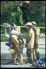 023087 Firefighters Checking Equipment A4 Photo Print