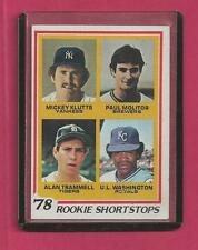 1978 Topps # 707 Trammell Molitar Rookie Card - Tigers - Brewers - NM