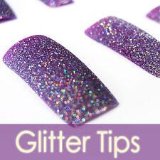 70PC Bling Glitter French Acrylic False Nail Tips 135-8