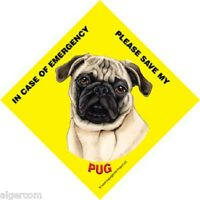 NEW Waterproof Laminated Glass Window Car Truck RV Sign GIFT BLACK PUG TAXI