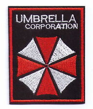 Black Evil Red Umbrella Corporation Resident Iron On Patch Shirt Hat Jeans