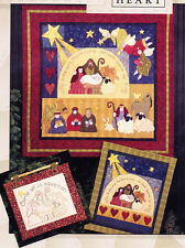 PATTERN - Joy to the World - applique & pieced Christmas wall quilt PATTERN