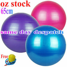 65cm Swiss Ball YOGA HOME GYM EXERCISE BALANCE PILATES EQUIPMENT FITNESS BALL