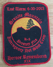 Granite Mountain Hot Shots-EOW 6/30/13 Commemorative - Genuine *Kokopelli Patch*