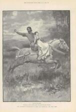 1890-ANTIQUE PRINT Fine Art Merveilleux Aventures Phra phénicien Paget (126)