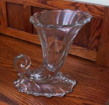 "9"" Heisey Cornucopia Glass Vase"